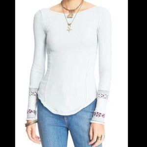 Free people rosey knit cuff thermal